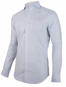 Cavallaro Napoli Nidoni Overhemd Lichtblauw-Bruin