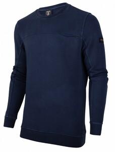 Cavallaro Napoli Pigato Sweat Pullover Dark Evening Blue