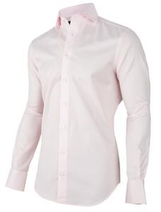 Cavallaro Napoli Pink Uni Overhemd Midden Roze