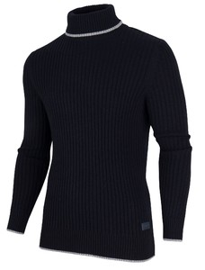 Cavallaro Napoli Portici Roll Neck Pullover Pullover Navy