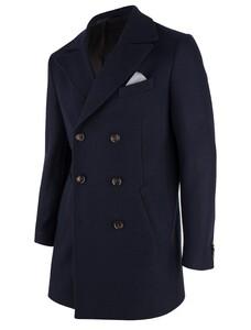 Cavallaro Napoli Rovigo Coat Coat Navy