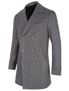 Cavallaro Napoli Rovigo Overcoat Coat Mid Grey
