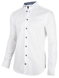 Cavallaro Napoli Sergo Overhemd Wit-Navy