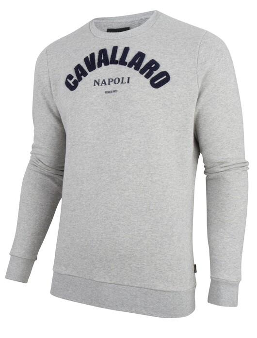 Cavallaro Napoli Studio Sweat Trui in kleur Grijs | Jan