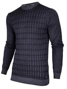 Cavallaro Napoli Testo Garment Dye Pullover Dark Evening Blue