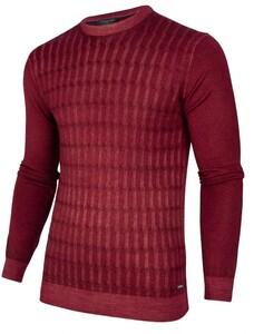 Cavallaro Napoli Testo Garment Dye Pullover Dark Red