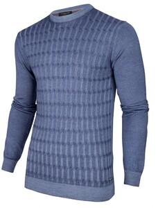 Cavallaro Napoli Testo Garment Dye Pullover Mid Blue