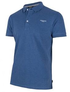 Cavallaro Napoli Uni Logo Poloshirt Mid Blue