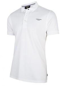 Cavallaro Napoli Uni Logo Poloshirt White