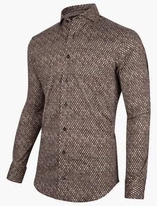 Cavallaro Napoli Verbano Overhemd Donker Bruin