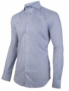 Cavallaro Napoli Zonti Overhemd Midden Blauw