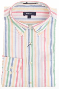 Gant Summer Oxford Multistripe Wit