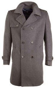 Pierre Cardin Anthra Double Row Coat Antraciet