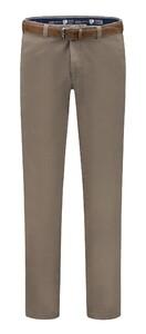 Com4 Cotton Flat-Front Broek Beige