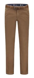 Com4 Cotton Flat-Front Broek Camel