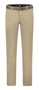 Com4 Cotton Flat-Front Broek Zand