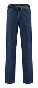 Com4 Flat-Front Denim Jeans Blauw