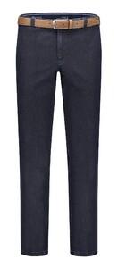 Com4 Flat-Front Denim Jeans Donker Blauw