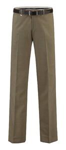 Com4 Flat-Front Summer Wool Broek Beige