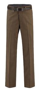 Com4 Flat-Front Summer Wool Broek Bruin