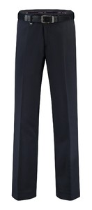 Com4 Flat-Front Wool All Season Broek Marine