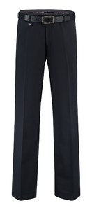Com4 Flat-Front Wool All Season Broek Navy