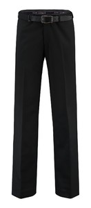 Com4 Flat-Front Wool All Season Broek Zwart