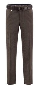 Com4 Flat-Front Wool Fine Cord Ribbroek Brons