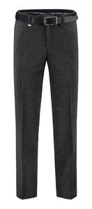 Com4 Flat-Front Wool Fine Cord Ribbroek Grijs