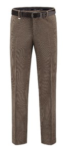 Com4 Flat-Front Woolcord Ribbroek Brons
