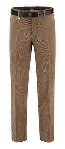 Com4 Flat-Front Woolcord Ribbroek Camel