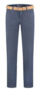 Com4 Swing Front Contrast Denim Jeans Blauw