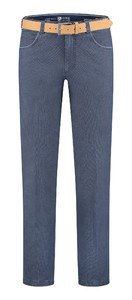 Com4 Swing Front Contrast Denim Jeans Blue