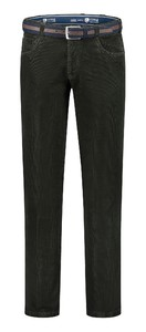 Com4 Swing Front Corduroy Cotton Rib Corduroy Trouser Green