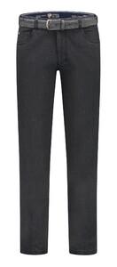 Com4 Swing Front Cotton Blend Pants Dark Gray