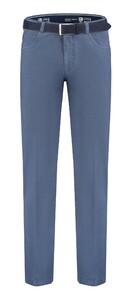 Com4 Swing Front Cotton Contrast Pants Blue