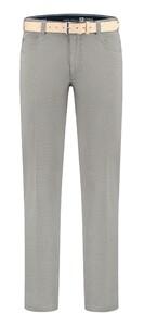 Com4 Swing Front Cotton Contrast Pants Grey