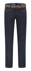 Com4 Swing Front Cotton Pants Navy