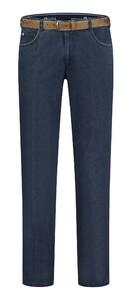 Com4 Swing Front Fine Contrast Pants Indigo