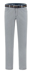 Com4 Swing Front Fine Pattern Jeans Grey-Blue