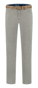 Com4 Swing Front Fine Pattern Jeans Grey-Green