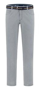 Com4 Swing Front Fine Pattern Jeans Grijs-Blauw