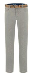 Com4 Swing Front Fine Pattern Jeans Grijs-Groen
