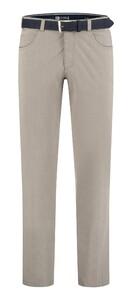 Com4 Swing Front Fine Summer Pants Beige