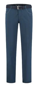 Com4 Swing Front Fine Summer Pants Dark Evening Blue