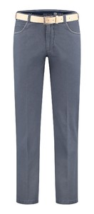 Com4 Swing Front Light Cotton Broek Donker Blauw