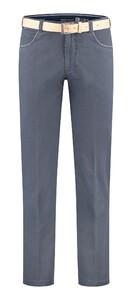Com4 Swing Front Light Cotton Pants Dark Evening Blue