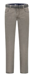 Com4 Swing Front Winter Cotton Pants Light Grey
