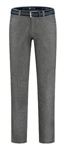 Com4 Swing Front Wool Look Pants Dark Gray