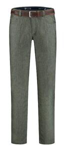 Com4 Swing Front Wool Look Pants Green